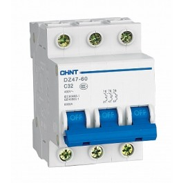 DZ47-60C 3P 01A 4.5kA х-ка C Автоматический выключатель (CHINT)