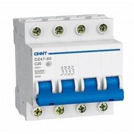 DZ47-60B 4P 25A 4.5kA х-ка B Автоматический выключатель (CHINT)