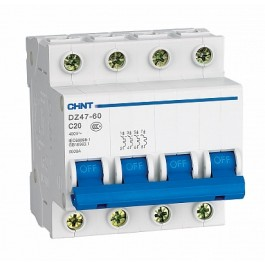 DZ47-60C 4P 40A 4.5kA х-ка C Автоматический выключатель (CHINT)