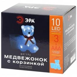 12 ЭРА Фигура LED Медвежонок с корзинкой, 3АА