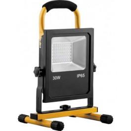 Светодиодный прожектор переносной с зарядным устройством IP65 30W 6400K