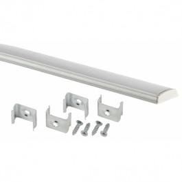 Комплект с гибким накладным анодированным профилем CAB291 15х6,5мм, 2м