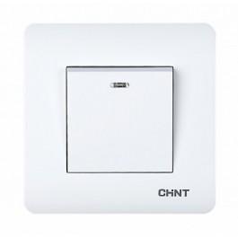 1-клавишный проходной выключатель с LED-подсветкой 10А 250В (CHINT)