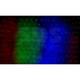 Гирлянда-сеть светодиодная 2х1,5м, свечение с динамикой, черный провод, мульти диоды NEON-NIGHT