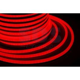 Гибкий неон светодиодный, постоянное свечение, красный