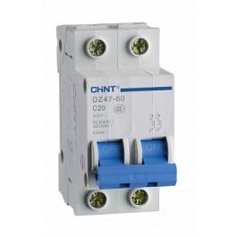 DZ47-60C 2P 20A 4.5kA х-ка C Автоматический выключатель (CHINT)
