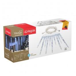 """Электрогирлянда """"Сосульки"""" 10шт (5шт 30см, 5шт 20см), 40 холодных LED, 2м"""