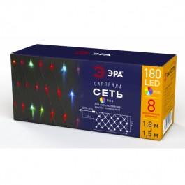 ЭРА Гирлянда LED Сеть 1,8 м*1,5 м RGB 8 режимов