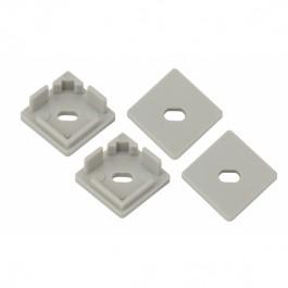 ЭРА 1616S-3B Набор заглушек для профиля CAB280, 4 сквозные квадратные