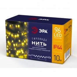 ЭРА Гирлянда LED Нить 10 м теплый свет, 24V, IP44