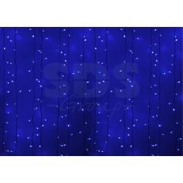 """Гирлянда """"Светодиодный Дождь"""" 2х1,5м, постоянное свечение, белый провод, 220В, диоды СИНИЕ"""