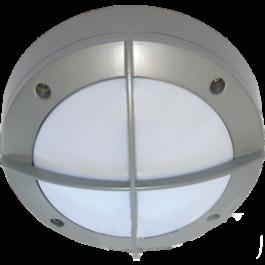 Светильник накладной IP65 матовый круг алюмин. с решеткой 1хGX53 145x145x65