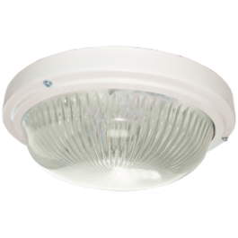 Светильник ДПП 03-18-003 круг накладной 3хGX53 прозр/матовое стекло IP65 белый 280х280х90