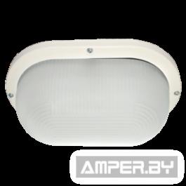 Светильник накладной ДПП 03-9-002 Овал накладной 2хGX53 прозр/матов стекло IP65 белый 280х175х105