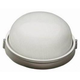 Светильник  НПБ1301 белый/черный круг IP54