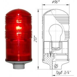 Заградительный огонь «ЗОМ-40Вт» >10cd, тип «А», 220V AC, IP54 ТУ 3461-001-69016606-2010