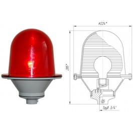 Заградительный огонь «ЗОМ-75Вт-АВ» >10cd, тип «А», 220V AC, IP54 ТУ 3461-001-69016606-2010