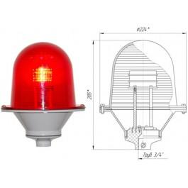 Заградительный огонь «ЗОМ-80LED» >32cd, тип «Б», 30-265V AC/DC, IP54 ТУ 3461-001-69016606-2010