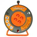 Удлинитель на катушке GLANZEN 4 гн. ПВС 2х2,5 (50 м)