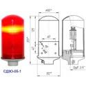 Заградительный огонь «СДЗО-05-1» >10cd, тип «А», 220V AC, IP54 ТУ 3461-003-69016606-2011