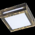 Ecola GX53 LED3082W свет-к накладной IP65 матовый Квадрат металл.1*GX53 Черненая бронза
