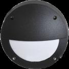 Светильник накладной IP65 матовый круг алюмин. с ресничкой 1хGX53 145x145x65