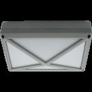 Cветильник накладной IP65 матовый прямоугольник/пирамида с решеткой алюмин 2хGX53