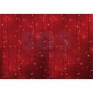 Гирлянда светодиодная дождь красный