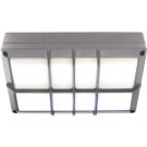 Cветильник накладной IP65 матовый Прямоугольник с решеткой алюмин 2хGX53, 215x135x65мм