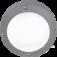 Светильник накладной IP65 матовый круг алюмин 1хGX53 145x145x65