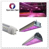 Светодиодные фитолампы и светильники для растений