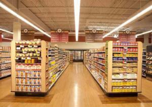 Торговое освещение продуктового магазина